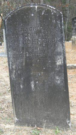 Major John Beck, 1819 - 1873