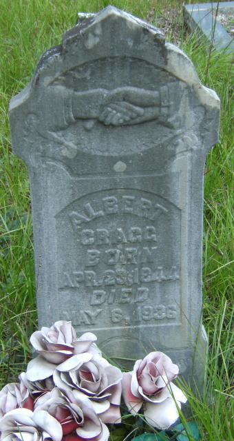 Albert Cragg, Powell Gap Cemetery, Rabun Co., GA