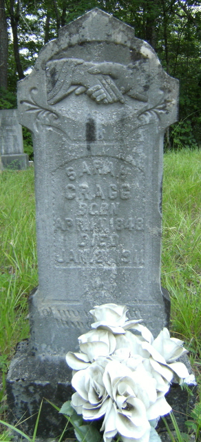 Sarah Cragg, Powell Gap Cemetery, Rabun Co., GA